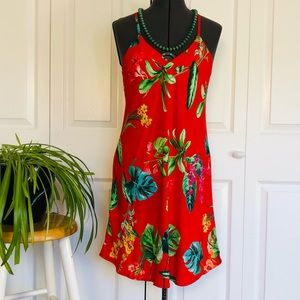 SALE! 2 for $25 Red Tropical Racerback SummerDress